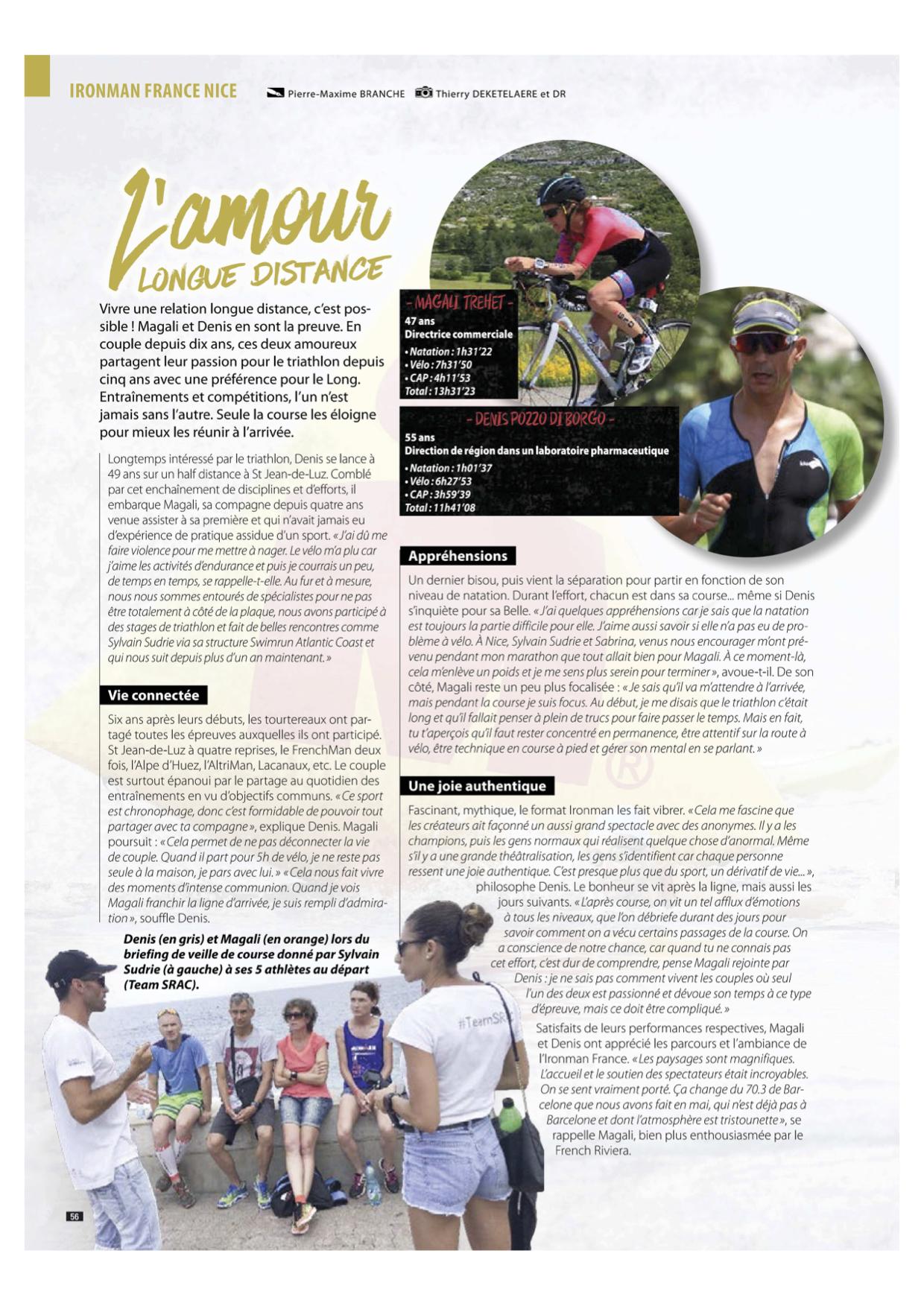 Article Triathlète Magazine 2018
